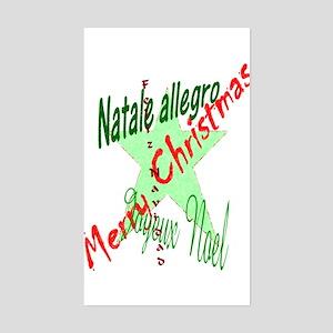 Christmas Languages Rectangle Sticker