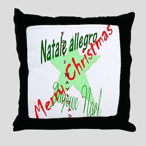 Christmas Languages Throw Pillow