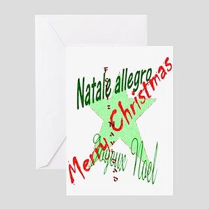 Christmas Languages Greeting Card