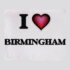 I love Birmingham Alabama Throw Blanket