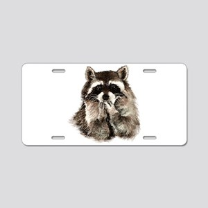 Cute Humorous Watercolor Ra Aluminum License Plate