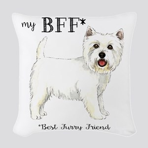 Westie BFF Woven Throw Pillow