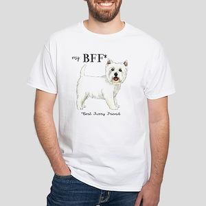 Westie BFF White T-Shirt
