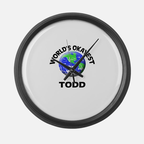 World's Okayest Todd Large Wall Clock