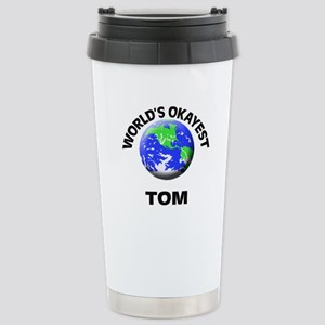 World's Okayest Tom Stainless Steel Travel Mug