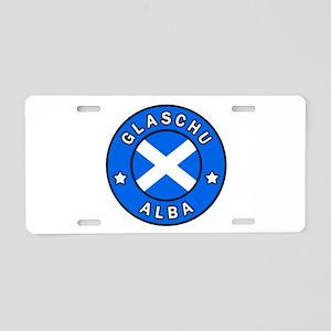 Glaschu Alba Aluminum License Plate