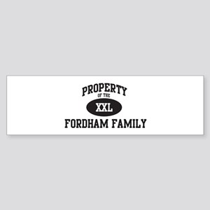 Property of Fordham Family Bumper Sticker