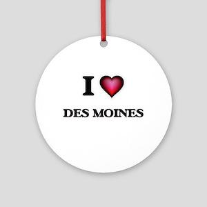 I love Des Moines Iowa Round Ornament