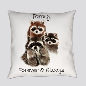 Family Forever Always Quote Water Everyday Pillow