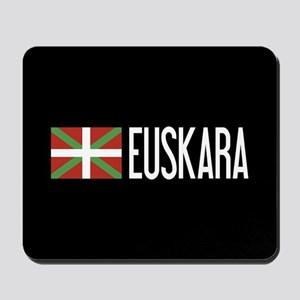 Basque Country: Basque Flag & Euskara Mousepad