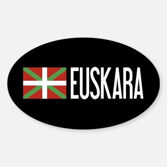 Basque Country: Basque Flag & Euska Sticker (Oval)