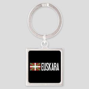 Basque Country: Basque Flag & Eusk Square Keychain