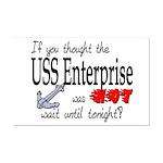 Navy USS Enterprise was hot  Mini Poster Print