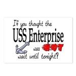Navy USS Enterprise was hot Postcards (Package of