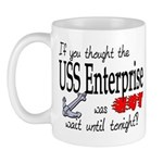 Navy USS Enterprise was hot Mug