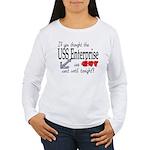 Navy USS Enterprise was hot Women's Long Sleeve T