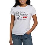 Navy USS Enterprise was hot Women's T-Shirt