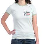 Navy USS Enterprise was hot Jr. Ringer T-Shirt