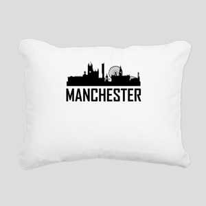 Skyline of Manchester England Rectangular Canvas P
