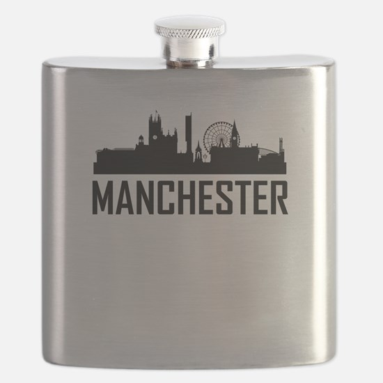 Skyline of Manchester England Flask
