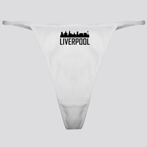 Skyline of Liverpool England Classic Thong