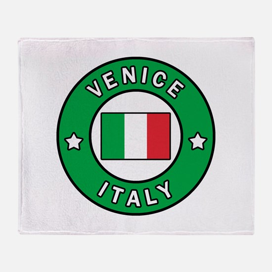 Venice Italy Throw Blanket