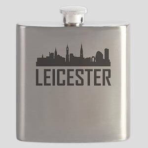 Skyline of Leicester England Flask