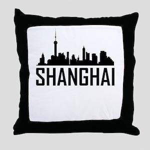 Skyline of Shanghai China Throw Pillow