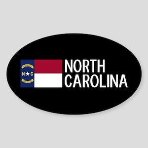 North Carolina: North Carolinian Fl Sticker (Oval)