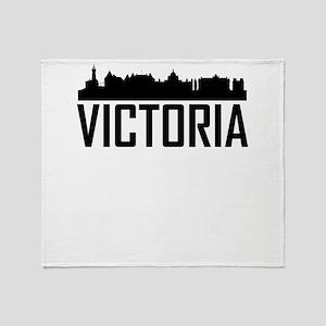 Skyline of Victoria BC Throw Blanket
