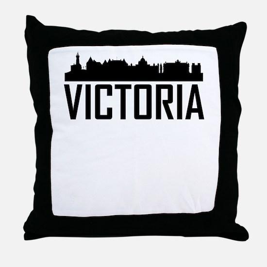 Skyline of Victoria BC Throw Pillow