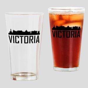 Skyline of Victoria BC Drinking Glass