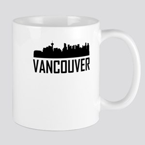 Skyline of Vancouver BC Mugs