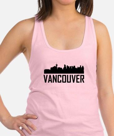 Skyline of Vancouver BC Racerback Tank Top