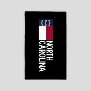 North Carolina: North Carolinian Flag & N Area Rug