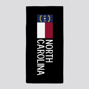 North Carolina: North Carolinian Flag Beach Towel