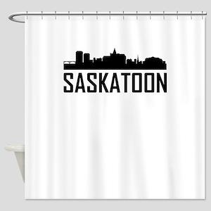 Skyline of Saskatoon SK Shower Curtain