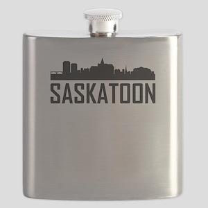 Skyline of Saskatoon SK Flask