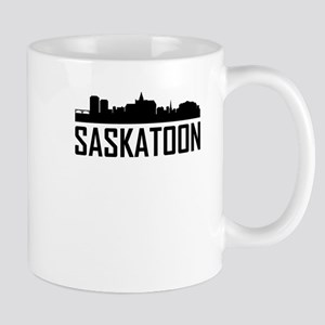 Skyline of Saskatoon SK Mugs