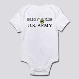MSG - Proud of my soldier Infant Creeper
