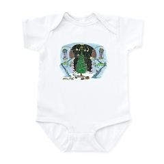 christmas tree monkey Infant Bodysuit