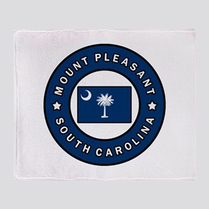 Mount Pleasant South Carolina Throw Blanket