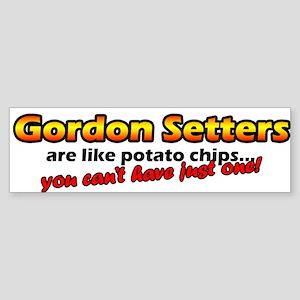 Potato Chips Gordon Setter Bumper Sticker