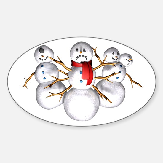 Snow Monsters Oval Decal