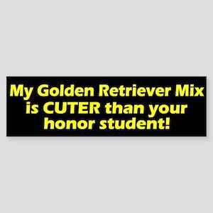 Cuter Golden Retriever Mix Bumper Sticker