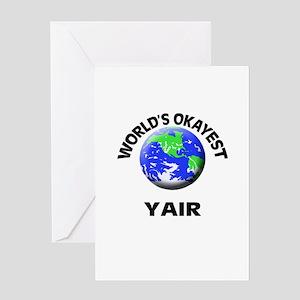World's Okayest Yair Greeting Cards