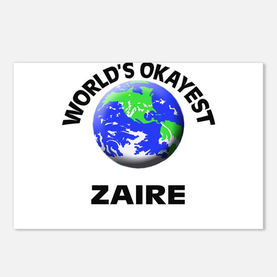 World's Okayest Zaire Postcards (Package of 8)