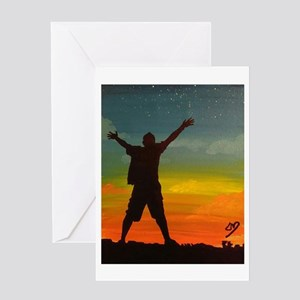 Throw Your Hands Up #1 Greeting Cards