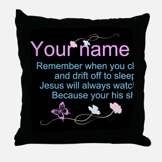 Personalize His Sheep Throw Pillow