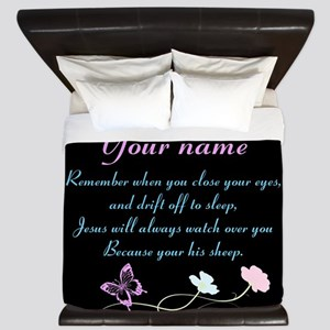 Personalize His Sheep King Duvet